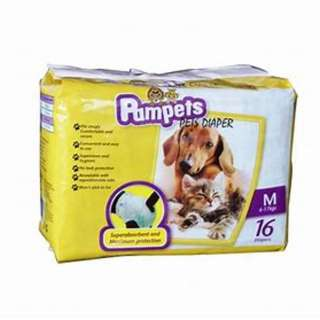 Pampets Diapers for Dogs and Cats Medium (16 pcs)