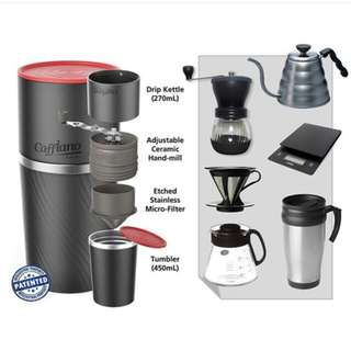Cafflano Klassic (Original) Black All In One Coffee Maker / V60 Drip