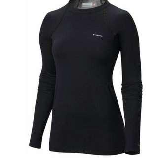 Baselayer baju senam gym zumba Columbia Grey 100% Original