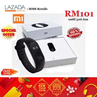 【100% ORIGINAL】MI BAND 2  Xiaomi Smart Watch HEART BEAT SLEEP CORPORATE GIFT