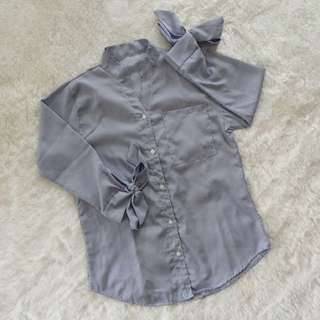 Bow sleeve shirt