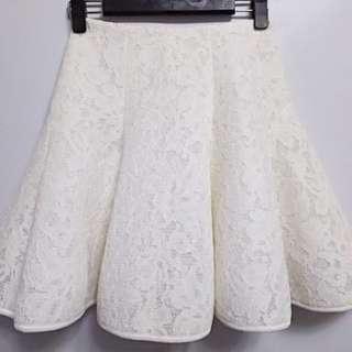 🚚 日本知名品牌  FRAY ID純白色氣質蕾絲裙