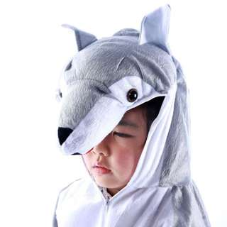 Deluxe Children Wolf Big Head Dress Costume Animal Fairytale Outfit