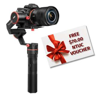Feiyu a1000 SLANT 3-Axis Gimbal Stabilizer (For 1kg payload) *$70 NTUC Voucher*