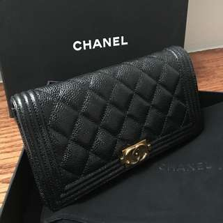 Chanel Boy Long Flap Wallet (Used)