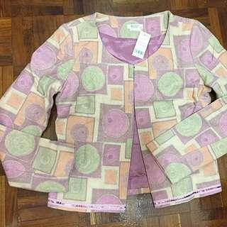 Brand New Wanko Wool Blend Blazer Jacket Coat Full Lining Top 全新粉色毛絨開胸外套褸全裡布