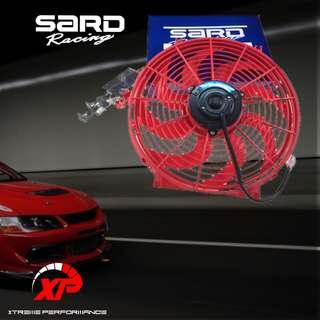"Sard Racing Kipas Radiator Oil Cooler Aircond High Speed 12000 RPM 20000 RPM Fan Size 12"""