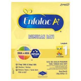 Susu Enfalac A+ Step 1 1.8kg (Kotak Baru)