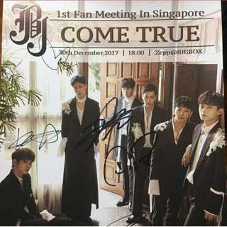 JBJ Signed Poster 1st Fanmeeting in SG
