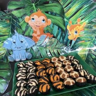 Rental of Tutu Table Skirting, Dessert Table Jungle-Safari Theme Party