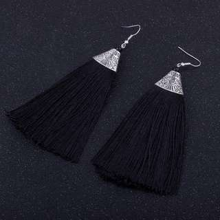 Anting Korea long tassel earrings