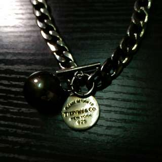New york Silver銀變黑左平賣necklace