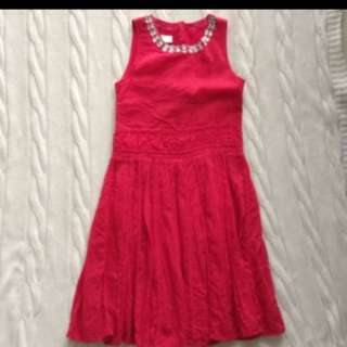 Gorgeous Red Cotton Bloomb Dress
