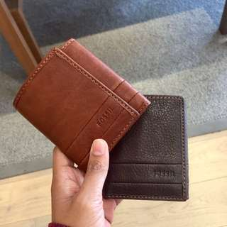💯 fossil trifold wallet