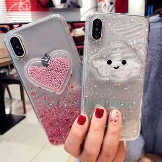 hearts and cloud phone casing