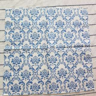 Napkin for Decoupage ( blue print )