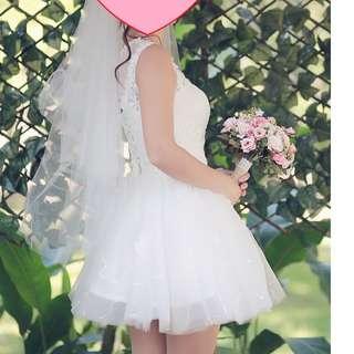 短婚紗 (送頭紗)