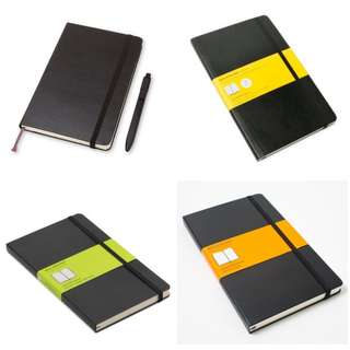 Moleskine fast delivery! Large size plain / Squared/ Ruled