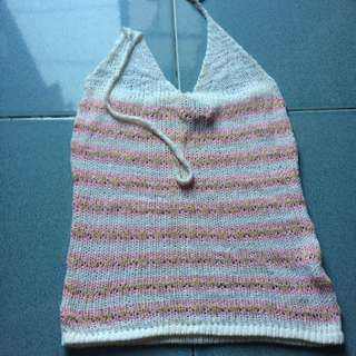 Knitted Halter Top