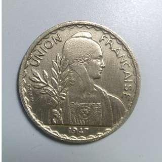 1947年 印度 1piastre