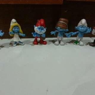 Preloved Smurf set RM40(exc pos)