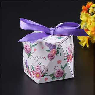 EA18045 SQUARE SHAPED CARD PAPER FAVOR BOX