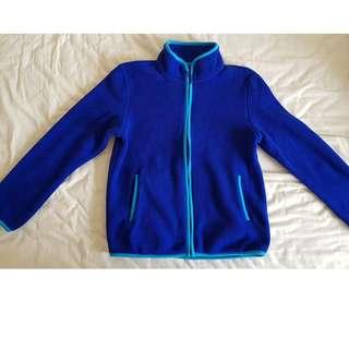 Uniqlo Blue Fleece Jacket/Sweater/Cardigan (Size 150) Used Once