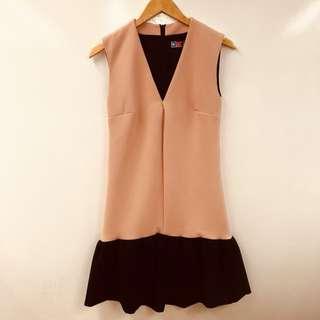 MSGM light pink with black ruffles dress size 42