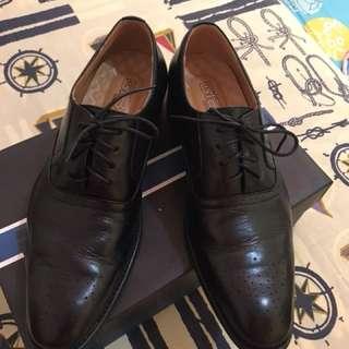 Gibi Homme Black Formal Shoes
