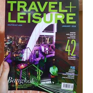 Travel + Leisure Southeast Asia January 2018 – BRAND NEW