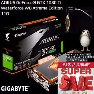 GIGABYTE AORUS GTX 1080 Ti Waterforce WB Xtreme Edition 11G. ( Crazy Sales till...28 Jan 2018....) Hurry Grab it while Stock Last..!! (Save yrsf)