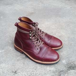 Chevalier Cap Toe Boots Horween Chromexcel Color 8