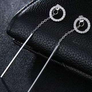 Anting Tusuk minimalist vertical pure color earrings