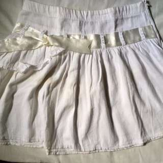 White ribboned skirt