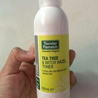 Thursday plantation tea tree witch hazel toner