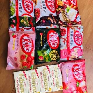 Kit-kat and Lotte Ghana Chocolate