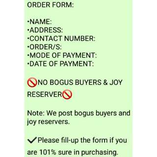 FORM: HOW TO ORDER!