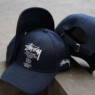 Topi Baseball Stussy colour Navy