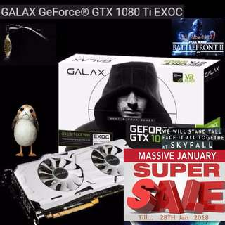 GALAX GTX 1080Ti EXOC White GeForce®. ( Super Sales till...28 Jan 2018....) Hurry Grab it while Stock Last..!! (Save yrsf)