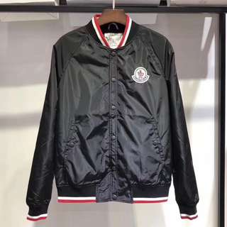 MONCLER Contrast cotton and sheel bomber jacket - 外套