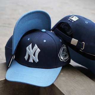 Topi Baseball NY Navy Blue