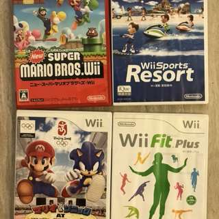 Wii 遊戲4隻