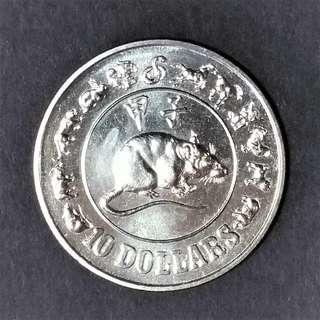 Singapore 1984 $10 Rat UNC