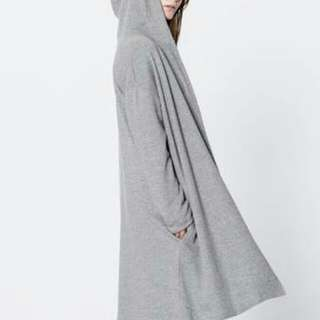 Pull&Bear Plush Long Hooded Jacket