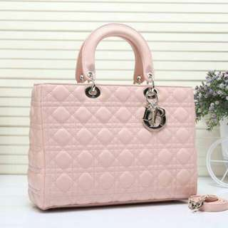 Lady Dior Lambskin Large Soft Pink Color