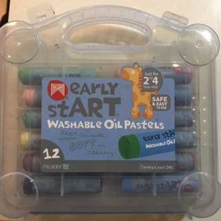 Early start washable oil pastels
