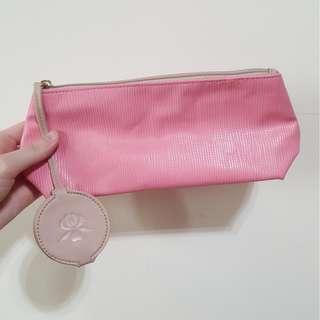 🚚 🔵【全新】正品 Sisley 附隨身鏡化妝包 粉紅 粉藍