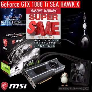 MSI GTX 1080 Ti SEA HAWK X. ( Super Sales till...28 Jan 2018....) Hurry Grab it while Stock Last..!! (Save yrsf)