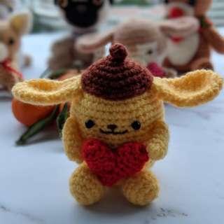 Valentine's Special Gift - crochet/amigurumi Pompom Purin