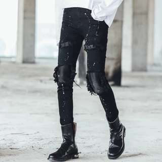 Rugged Skinny Ripped Jeans